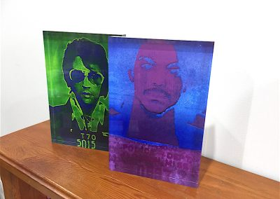 Prince and Elvis Acrylic Block Print